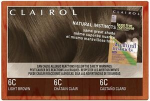 Clairol Natural Instincts Brass Free 6C Light Brown Hair Color