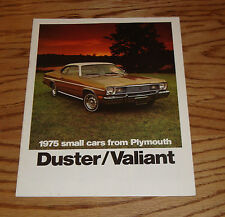 Original 1975 Plymouth Duster & Valiant Sales Brochure 75