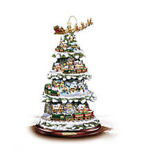 Kinkade Tabletop Tree With Lights, Moving Train, Music