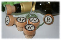 Monogram Wine Stoppers Personalized Wine Stopper Party Favor Stoppers Cork