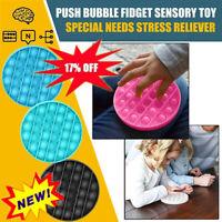 Push Bubble Fidget Sensory Toy Special Needs Stress Reliever 2020 U6J7