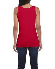 Gildan Ladies' Soft Style Tank Top Cherry Red All Sizes Wholesale 64200L M