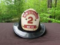 VINTAGE new danville fireman's helmet  NDF CO #2