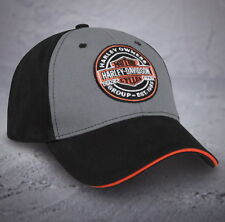 HARLEY DAVIDSON OWNERS GROUP HOG OIL CAN PATCH HAT BALL CAP BASEBALL