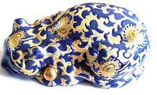 "Vintage 8"" Ceramic Sleepy Kitty Cat Figure Shelf Decor"