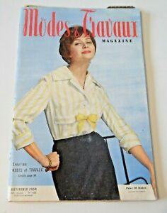 Magazine Modes & Travaux Février 1958