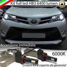 KIT FULL LED TOYOTA RAV-4 IV LAMPADE LED HB3 6000K NO ERROR BIANCO XENON