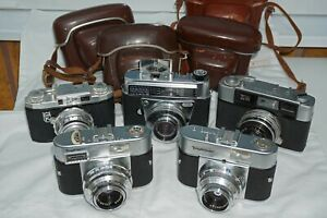 JOB LOT 5 VINTAGE 35MM CAMERAS(1950/60's)
