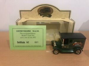 Lledo - Ford Model T Van - Derbyshire NUM - Cert 001 of 492