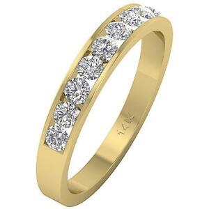 Wedding Ring SI1 G 0.40 Carat Natural  Round Cut Diamond 14K Yellow Rose Gold