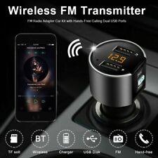 Car Bluetooth Cigar Plug FM Transmitter MP3 Player Radio Adapter Kit 2 USB Port
