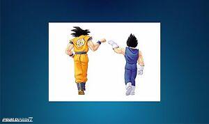 New Dragon Ball Z Super Framed A4 Goku Vegeta DBZ Akira Toriyama Gift Birthday