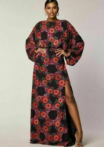 NEW Virgos Lounge Black Riviera Embellished Kaftan Occasion Maxi Party Dress