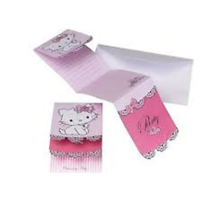 Riethmuller - Lot 6 Cartes invitation + enveloppes Hello Kitty
