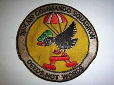 """Vietnam War Patch US Air Force 19th Air Commando Squadron """"DEEDS, NOT WORDS"""""""