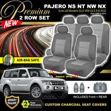 Premium MITSUBISHI PAJERO Seat Covers F+R GLX GLS VRX NS NT NW NX 2006-16 CHARC