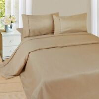 """Luxurious Bedding Set All Size Taupe Solid 600 Thread Count Pure Cotton 15"""" Deep"""