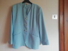 Ladies aqua long sleeved Vee neck jacket by Jacques Vert Size 16