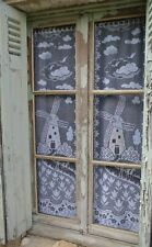 Vintage French Lace Colors Windmill Tulip Design Panel Curtains