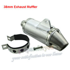 38mm Exhaust Muffler With Clamp T4 Style For 125 140 150 160 190cc Pit Dirt Bike
