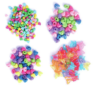 The Craft Factory Plastic Beads - Assorted Colours