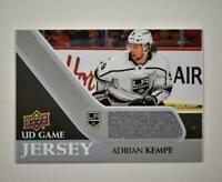 2020-21 UD Series 1 Game Jersey Relic #GJ-AK Adrian Kempe  - Los Angeles Kings