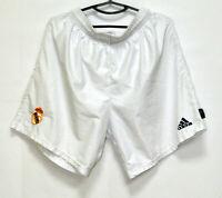 REAL MADRID SPAIN 2002/2003 CENTENARY HOME FOOTBALL SHORTS ADIDAS SIZE XL ADULT