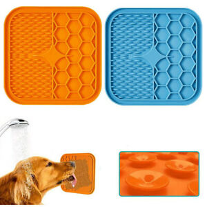 Pet Lick Food Pad Silicone Dispenser Dog Bathing Feeder Pads Silicone Supplies