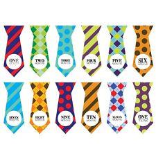 Necktie Monthly Baby Milestone Onesie Stickers Wall Stickers