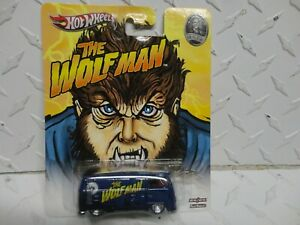 Hot Wheels Universal Studios Monsters Blue Wolfman Volkswagen T1 Panel Bus w/RRs
