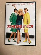 Some Like It Hot 50Th Anniversary Dvd Marilyn Monroe Widescreen