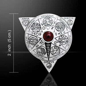 Oberon Zell Alchemical Mandala .925 Sterling Silver Pendant by Peter Stone