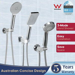 ABS Hand held shower set with 3-mode shower head + Brass Wall elbow+ shower hose