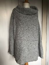 New Look Size 14 Grey Off The Shoulder Long Sleeve Autumn Cosy Blogger Jumper