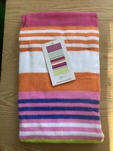 """Beach towel 28"""" X 60"""" New Pink and Bright stripes Pattern"""