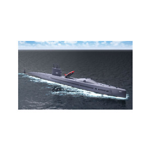 1/350 Blue Ridge Models USS Halibut SSGN/SSN-587 2-in-1 Submarine Model Kit