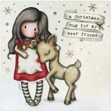 Gorjuss Christmas Card - A Christmas Hug For My Deer Friend