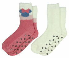 NWT Disney Minnie Mouse Mauv-E-Lous Super Soft 2-Pack Crew Socks, Pink/White