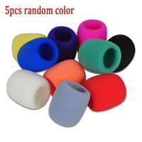 5Pcs Colors Handheld Stage Microphone Windscreen Foam Mic Cover Karaoke DJ Sing