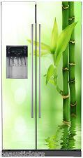 Sticker frigo américain électroménager déco Bambous 718