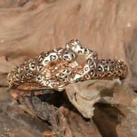 BRACELET FEMME CORPS DE PANTHERE DORE OR STRASS STYLE JOAILLERIE new  ZAZA2CATS