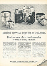 1962 Kodak Retina Reflex III Camera Golf - Vintage Advertisement Print Ad J379