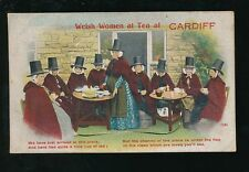 Wales Glamorgan Glam CARDIFF Ladies dress fashion Tea Pocket Novelty 1917 PPC