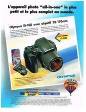 PUBLICITE ADVERTISING 1995 OLYMPUS appareil photo IS 100 avec ojectif 28-100mm