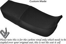 CARBON FIBRE VINYL CUSTOM FITS HONDA NSR 400 R 85-87 DUAL SEAT COVER