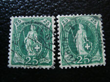 SUISSE - timbre - yvert et tellier n° 72 x2 obl (A7) stamp switzerland (R)