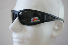 100% UV Polarized sunglasses black plastic frame w/smoke lenses unisex adult