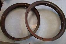 1926 1927 WILLY'S KNIGHT - Pair of Wood Spoke Rims for Restore