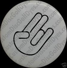 Disc Golf Custom Dye Stencil - Shocker Angled (2 Pack)