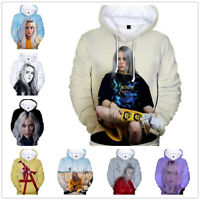 New Billie Eilish Hoodie Sweatshirt Pullover Casual 3D Printed Sweater Gift